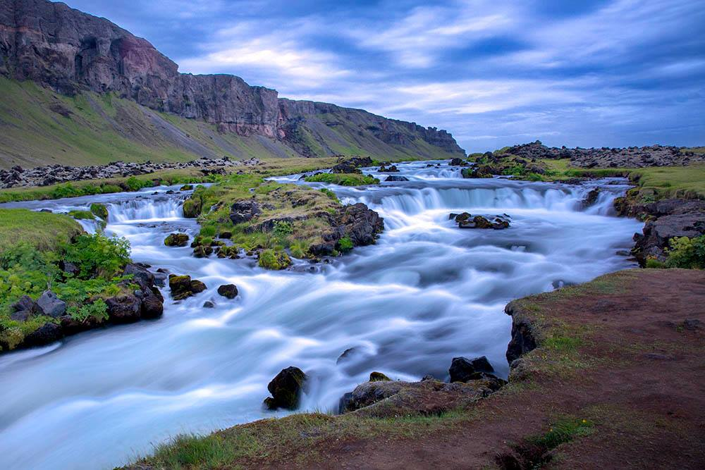 Flowing River Iceland