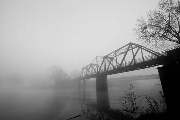 Robert Redden Footbridge And Fog
