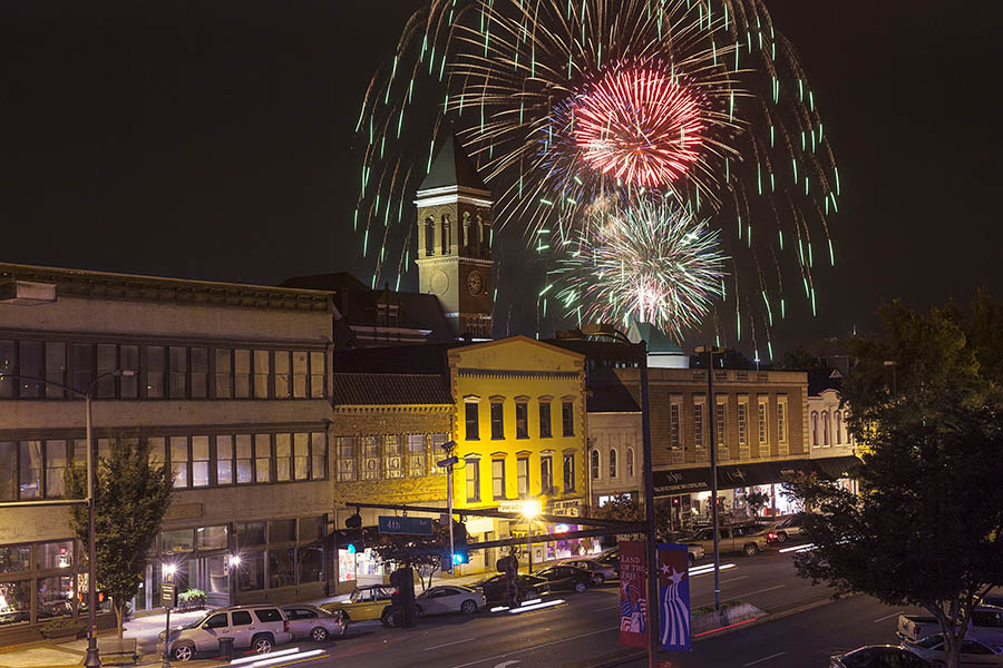 Broad Street And Fireworks